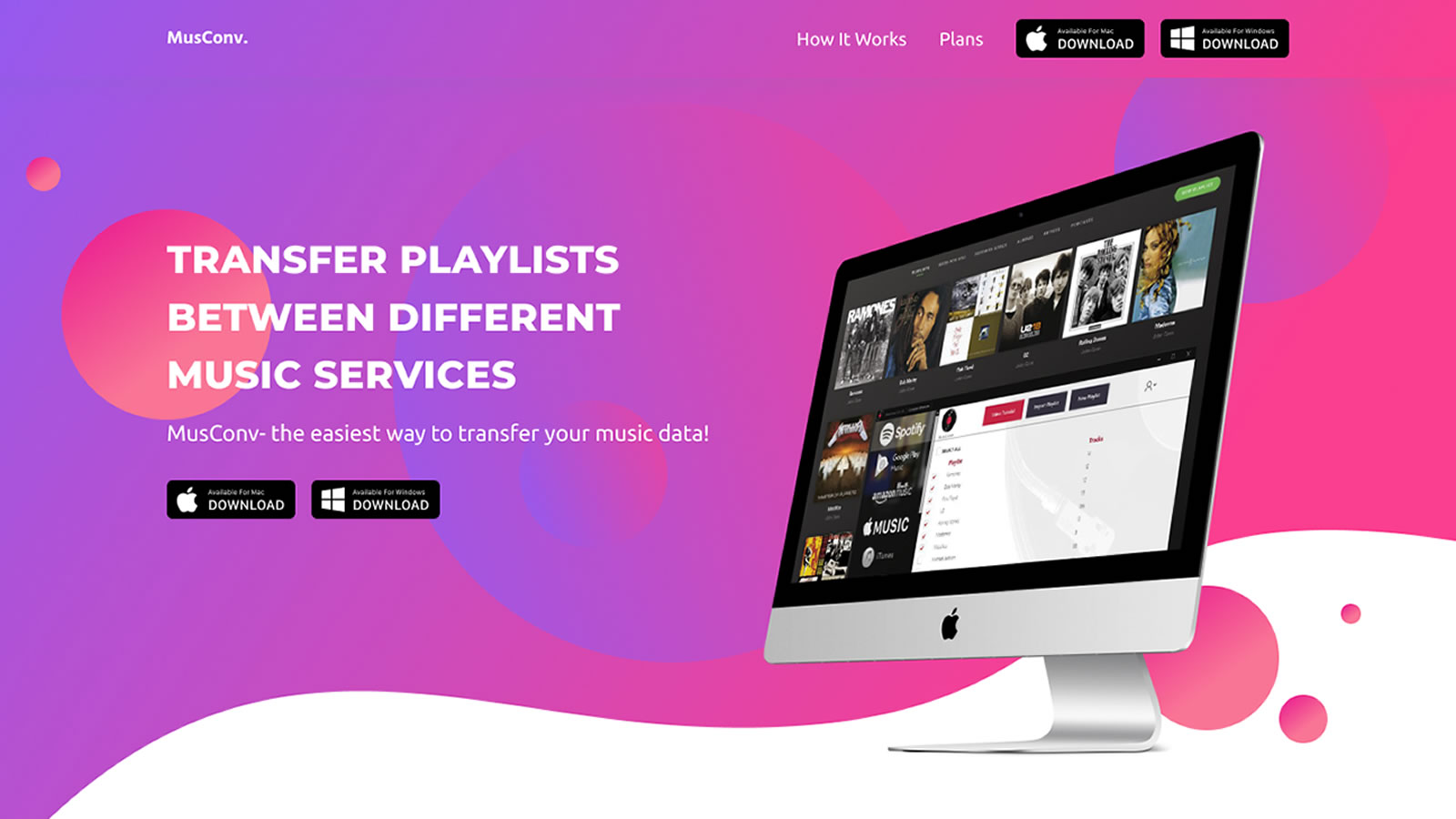 Musconv: Transfer Playlist Between Different Music Services