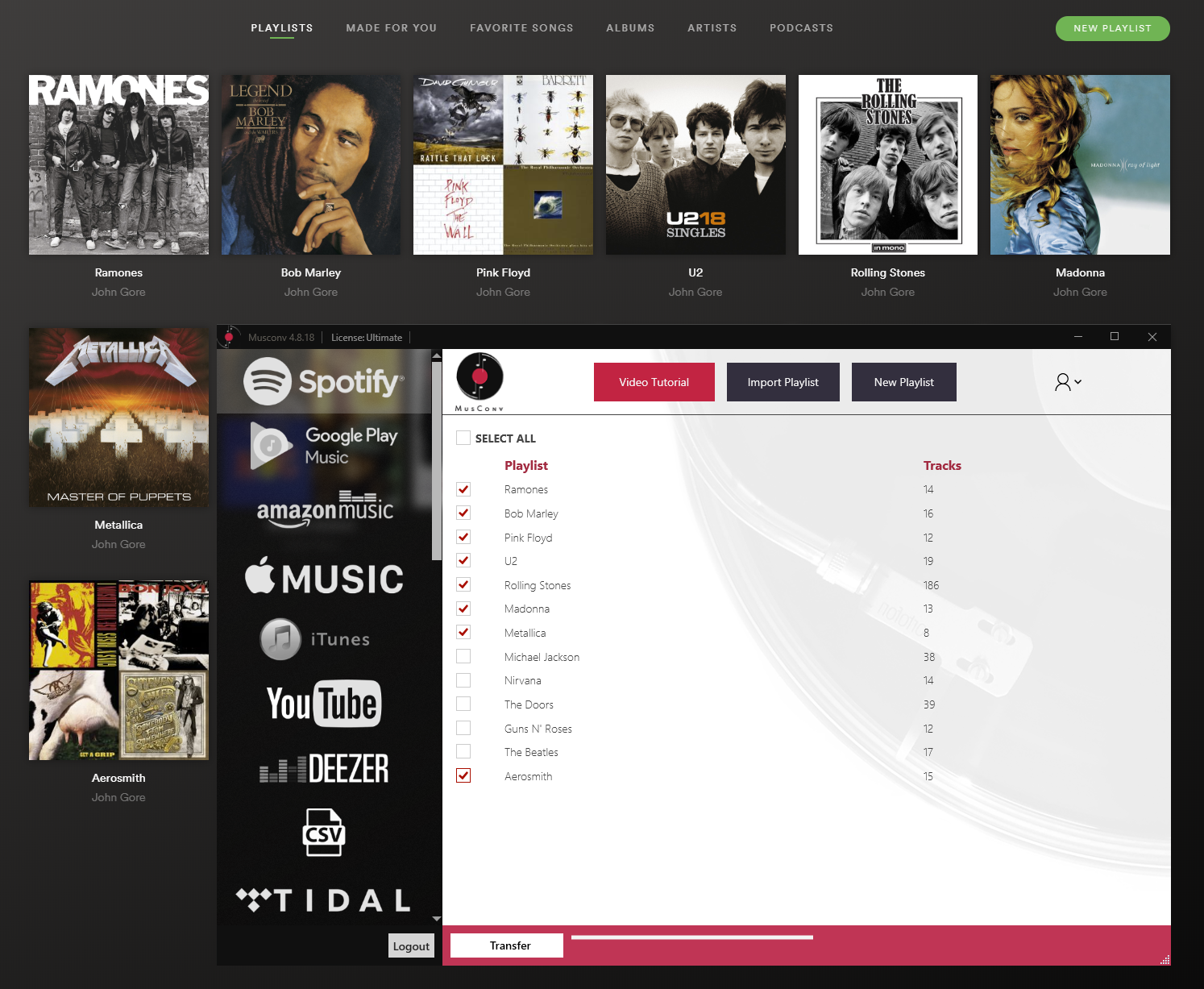 Move from IDAGIO to DJ Player Pro