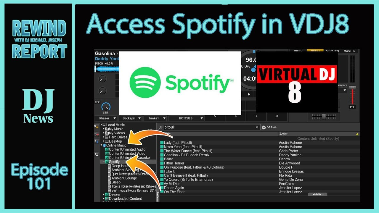 Virtual DJ with Spotify